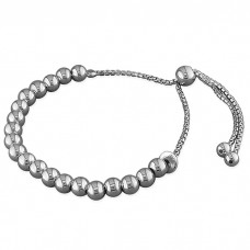 Slider Bracelet with 3 Hearts