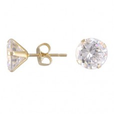 6 mm Cubic Zirconia Stud Earrings