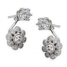 Flower Front to Back Earrings