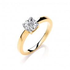 9ct 0.05ct Diamond Engagement Ring