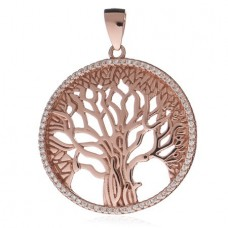 Rose Gold Tree of Life Large Pendant