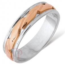 5 mm Two Colour FT333V Wedding Ring