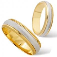 6 mm Two Colour T170 Wedding Ring