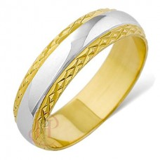 6 mm Two Colour T69 Wedding Ring