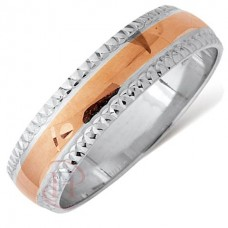 4 mm Two Colour T79V Wedding Ring