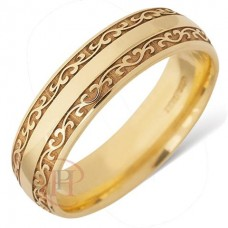 6 mm Celtic LE47 Wedding Ring
