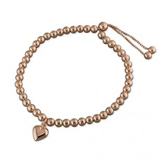 Rose Gold Beaded Slider Bracelet