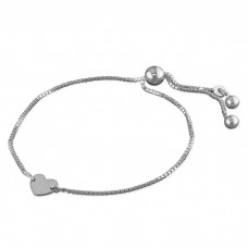 Slider Bracelet with Heart