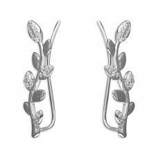 Climbing Leaf Sweep Up Earrings