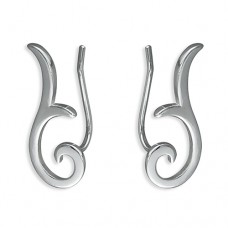 Swirl Shiny Sweep Up Earrings