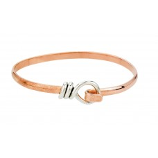 Sterling Silver & Copper Hook Bangle