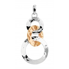 Sterling Silver & Copper Open Swing Circles Pendant