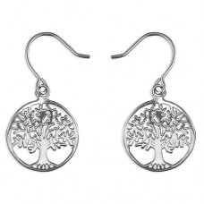 Tree of Life Ear Wire Drop Earrings