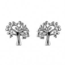 Tiny Tree of Life Stud Earrings